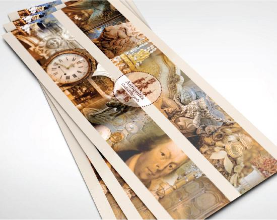 Carles et bergada, antiquaire, carte de voeux, graphiste freelance