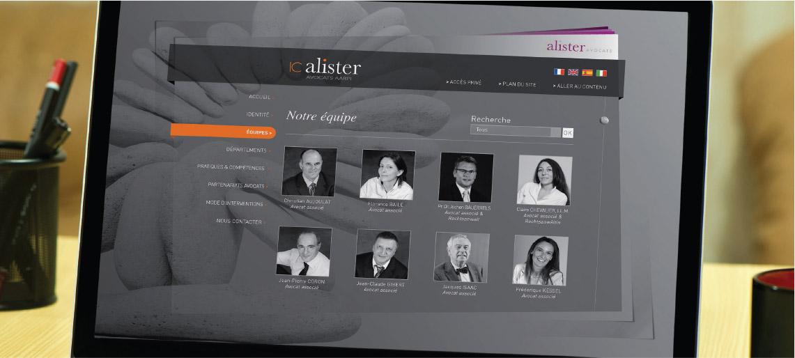 création site internet, univers graphique, IC Alister, graphiste freelance