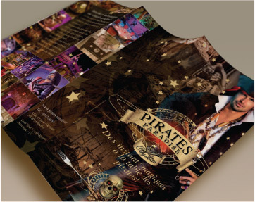 univers graphique, flyers, Pirates Paradise, graphiste freelance