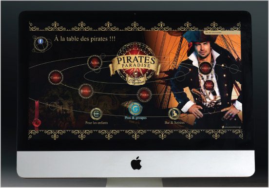 site internet, univers graphique, pirates paradaise