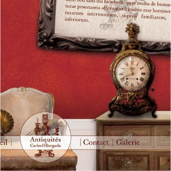 Carles et bergada, antiquaire, site internet, graphiste freelance