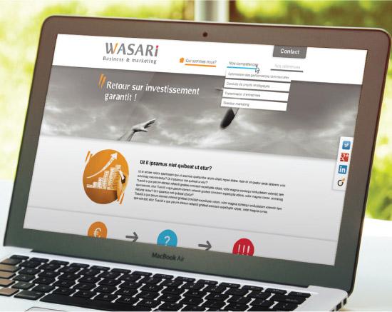 site internet, wasari, graphiste freelance