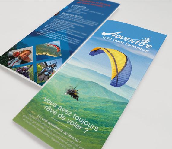 flyer adventure, graphiste freelance