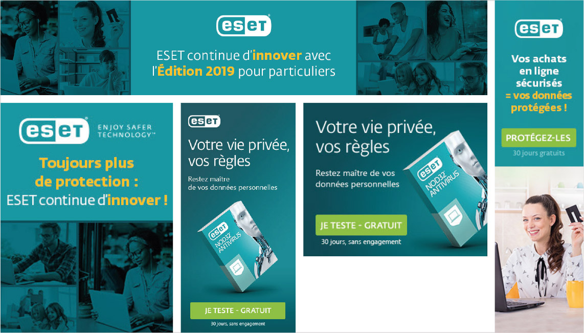 bannières web, display, Eset, graphiste freelance