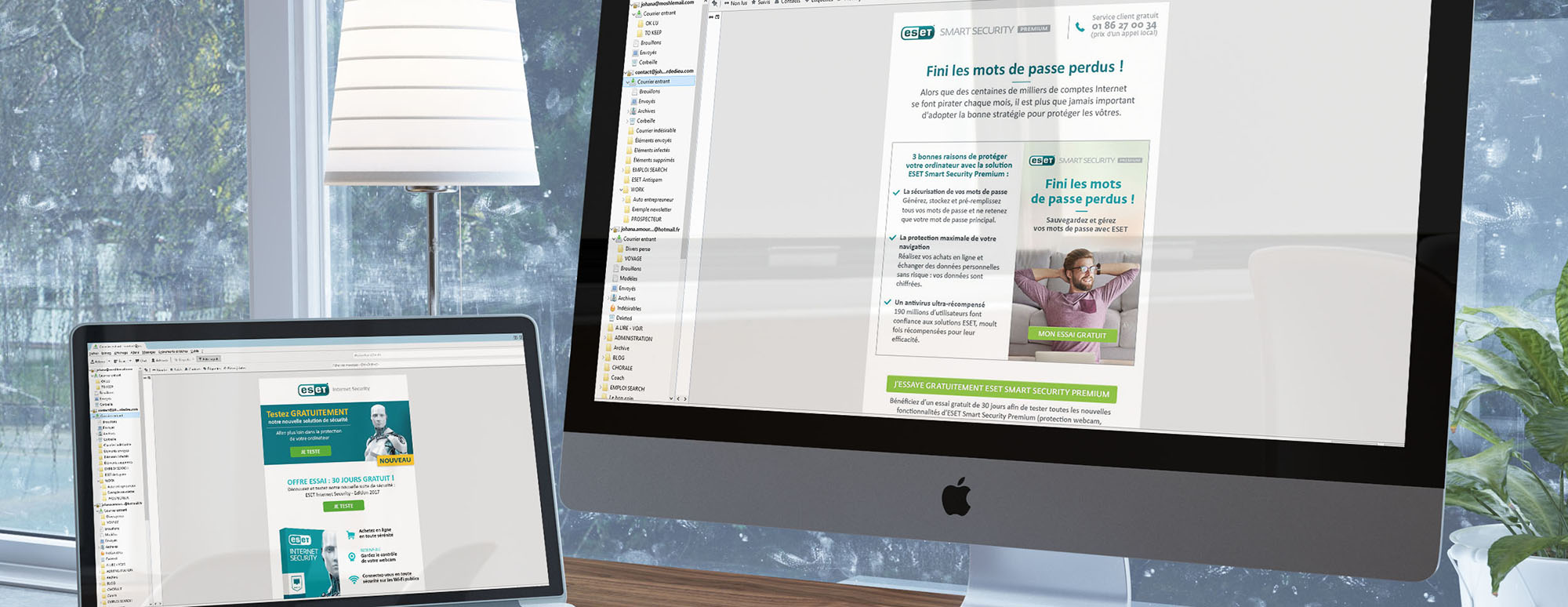 newsletter, Eset, graphiste freelance