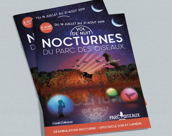flyer, nocturnes, 2019, parc des oiseaux