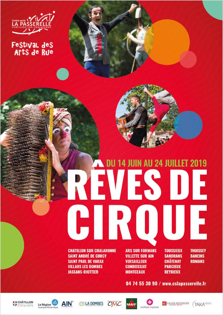 affiche, rêves de cirque 2019, festival