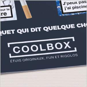 plaquette, concept de communication, coolbox